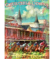 Churchill Downs First Turn Print