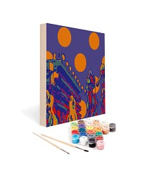 Paint by Number Art Kit--Winning Circles Mini Kit