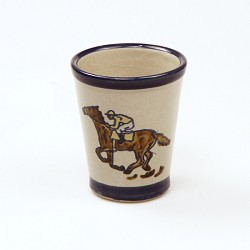 Running Horses Julep Cup by Louisville Stoneware