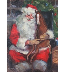 Santa and Foal Holiday Card Set,CHRIST WISHES 1