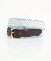 Three-Color Seersucker Belt Multiple Colors 36""
