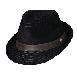 Men's Corduroy Ribbon Fedora