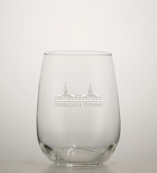 Grandstand Etched Stemless Wine Glass,01-036 LITE ETCH