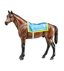 American Pharoah Figurine with Saddle Blanket