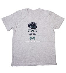 Boy's Derby Bowtie Tee Gray Small