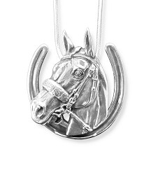 American Pharoah Sterling Horseshoe Necklace
