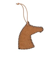 Dolan Stitched Hide Horse Ornament