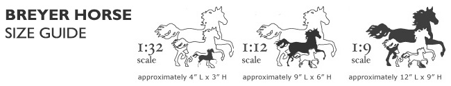 Breyer horses size scale