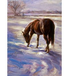 Horse in Snow Holiday Card Set