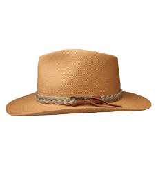 Men's Brown Band Straw Outback Hat