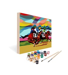 Paint by Number Art Kit--Thrill of the Race,08-1114 11X14