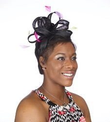 The Loopy Fascinator,KD45DERBY-BLACK