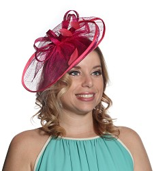 The Loops and Swirls Fascinator,LDF42-FUCH