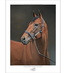 American Pharoah Dual Signed Limited Edition Print,1001 BAXTER 18X24