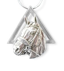 American Pharoah Sterling Pyramid Necklace,2015PYR