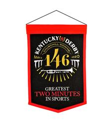 Kentucky Derby 143 Felt Banner,#79062 12X18