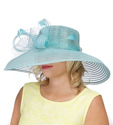 The Horsehair and Crinoline Lampshade Hat,KD71DERBY-TURQ
