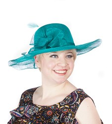 The Soft-Brim Sinamay Hat,LD70-TEAL