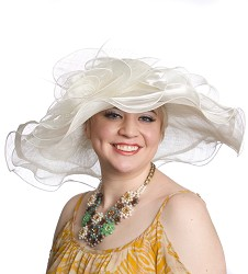 The Organza Trip Sinamay Hat,LD77-IVORY