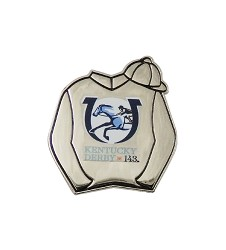 Kentucky Derby 143 Silks Lapel Pin,KLP1702 SILKS