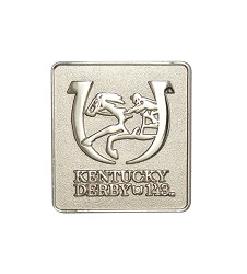 Kentucky Derby 143 Silver Lapel Pin,KLP1703 SILVER