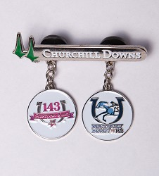 Kentucky Derby 143 Daily Double Lapel Pin,7KPDD
