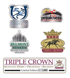 2017 Triple Crown 4 Piece Collectors' Pin Set,ZT7PS