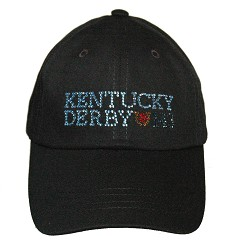 Ladies' Kentucky Derby 143 Bling Cap,Bling Apparel & Accessories,HP-001 LOGO 1