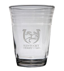 Kentucky Derby 143 Party Cup Glass,03-002 LITE ETCH