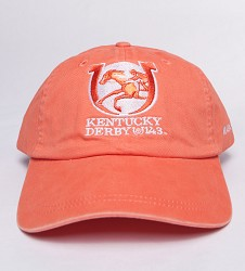 Kentucky Derby 143 Ladies' Peached Twill Cap,K45CA4 143O1 SORBET