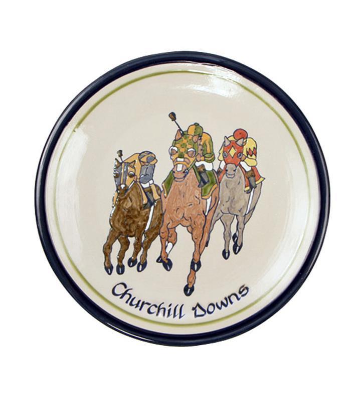 "Churchill Downs Comin' At Ya Plate by Louisville Stoneware,Louisville Stoneware,CAYD898 11"""