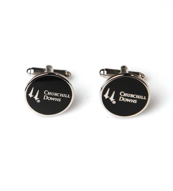 Churchill Downs Enamel Cufflinks,KCLCD1N BLK
