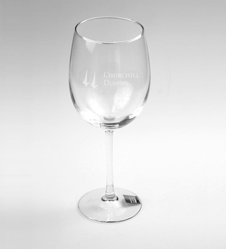 Churchill Downs Etched Wine Glass,01-012 LT ETCH 16 OZ