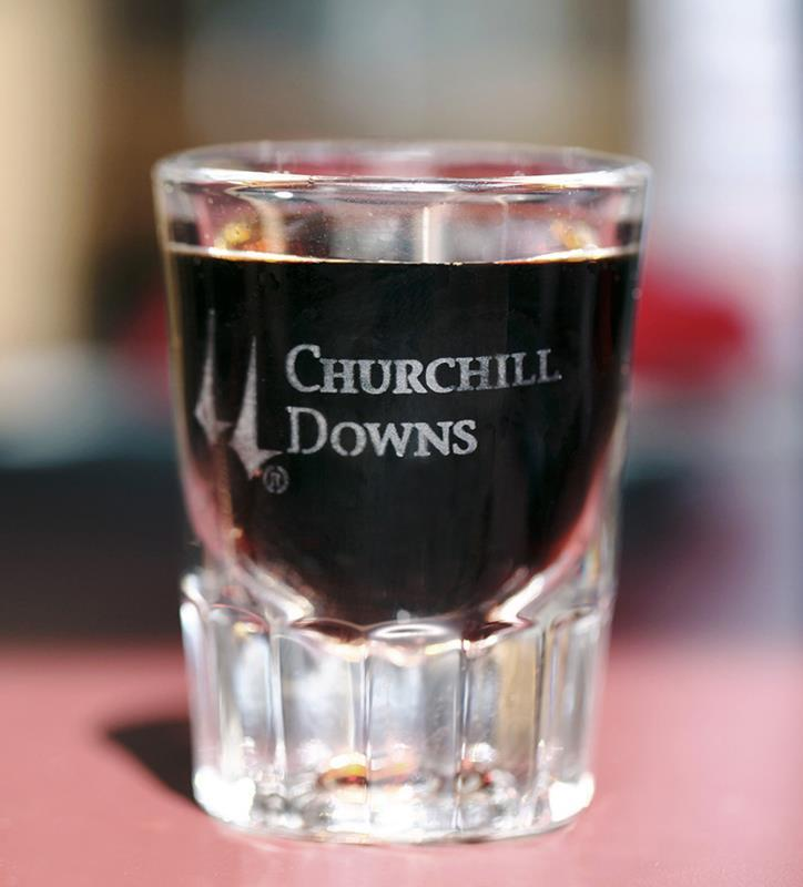 Churchill Downs Etched Fluted Shot Glass,01-300 LT ETCH 2 OZ