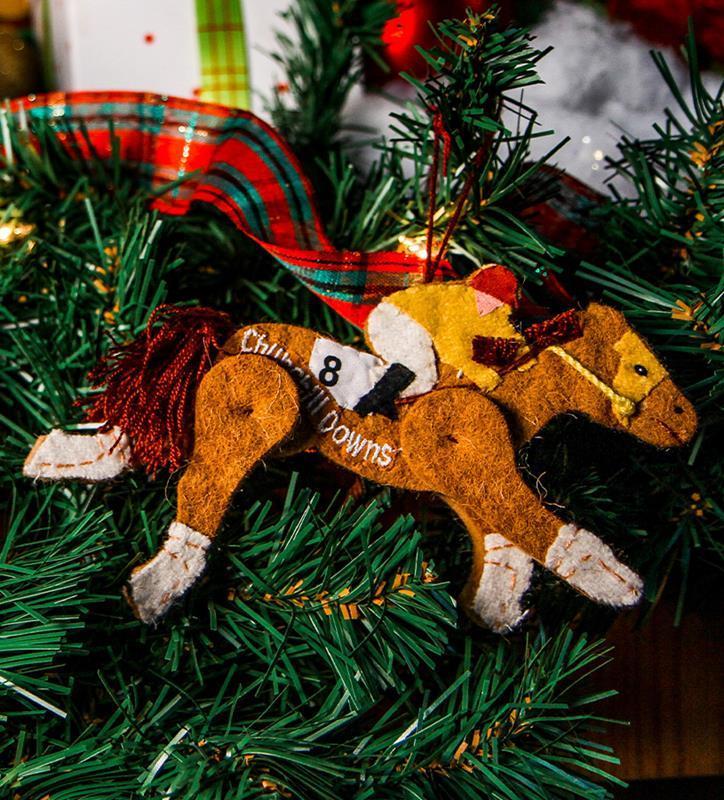 Churchill Downs Hand-Made Wool Ornament,281 HORSE CD