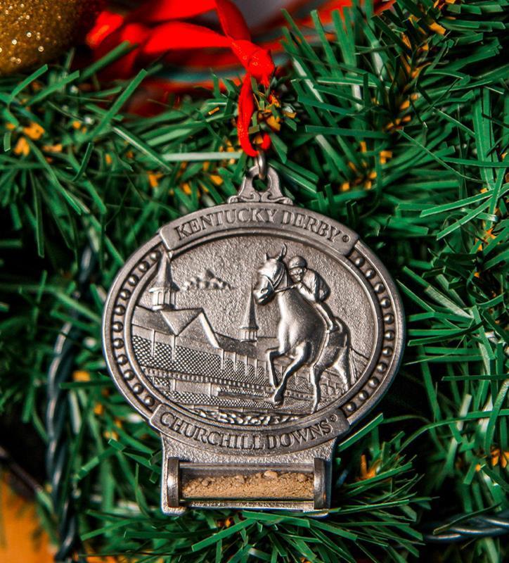 Churchill Downs Pewter Dirt Ornament,KOR205T PEWTER