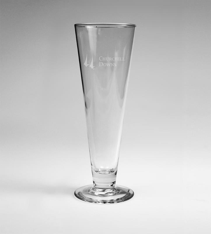 Churchill Downs Etched Pilsner Glass,03-350 LT ETCH 14 OZ
