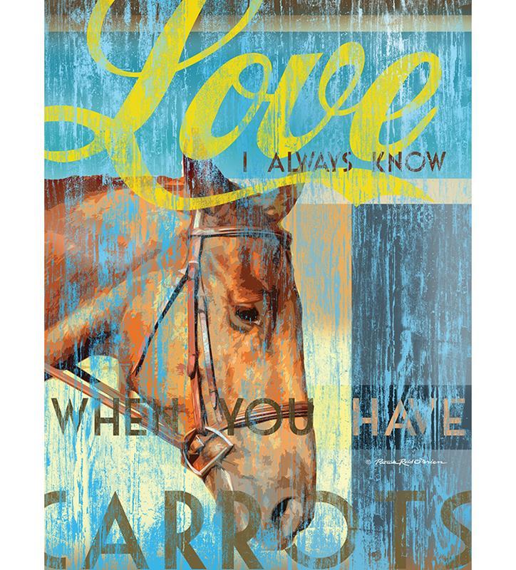 Horses Love Carrots Print,2993 LOVE CARRO