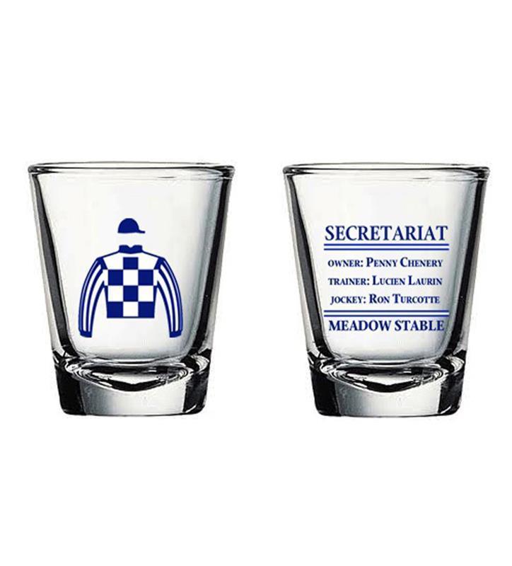 Secretariat Meadow Stables Shot Glass