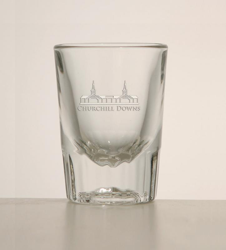 Grandstand Etched Fluted Shotglass,01-300 LT ETCH 2 OZ