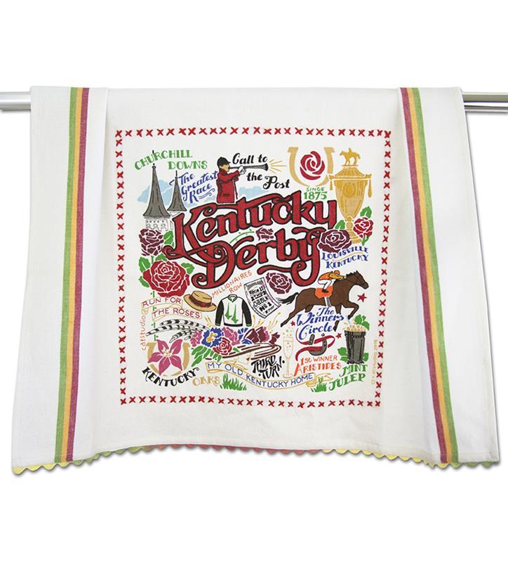 Catstudio Kentucky Derby Dish Towel