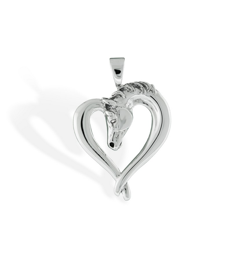 289-10 Horse Heart Pendant,Darren K. Moore,289-10 PENDANT