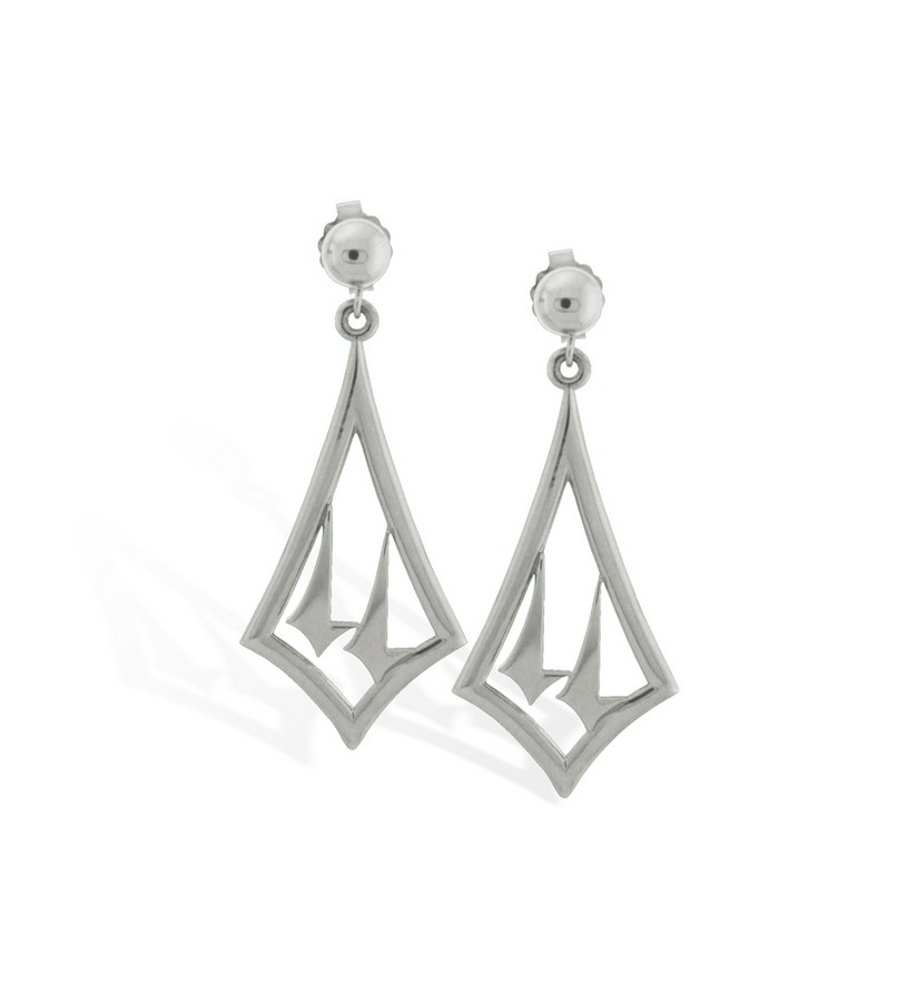 375-14 Twin Spires Dangle Earrings,Darren K. Moore,375-14 EARRINGS