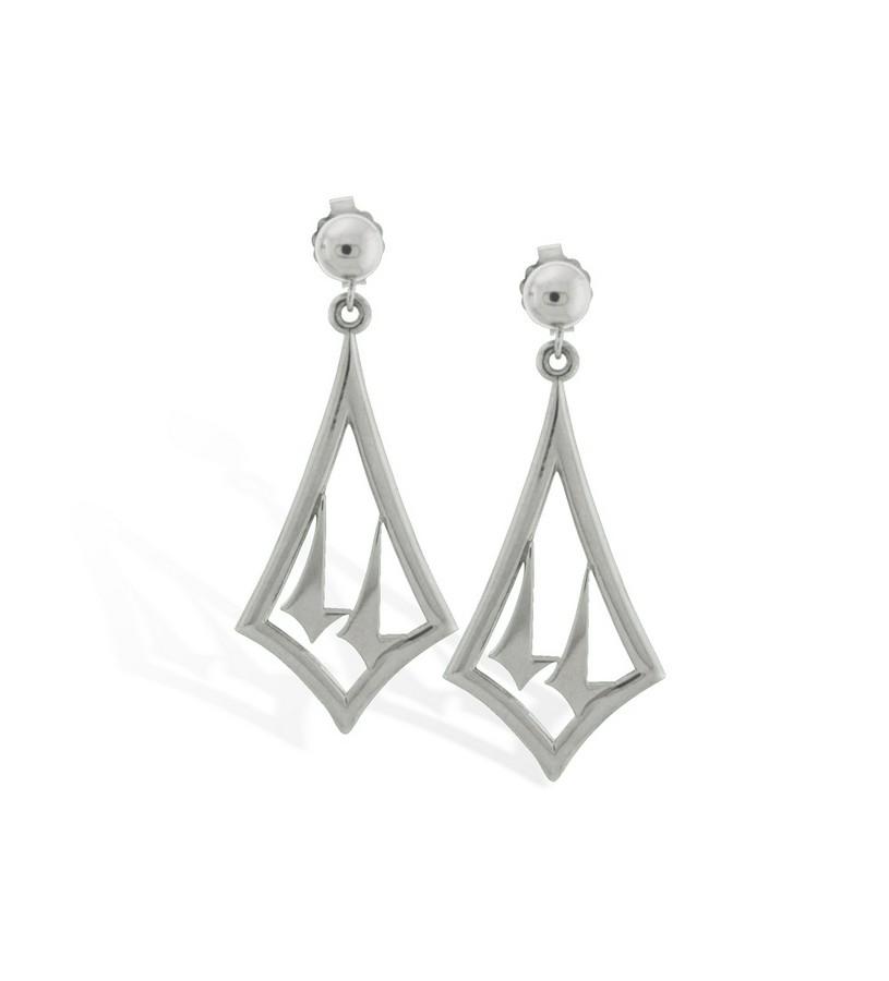 375-14 Twin Spires Dangle Earrings,Darren K. Moore,375-14 EARRINGS