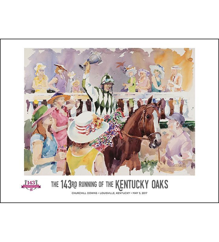 2017 Art of the Oaks Poster,825452524528
