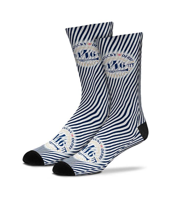 Kentucky Derby 146 Seersucker Stripe Sock,889536602144-308S