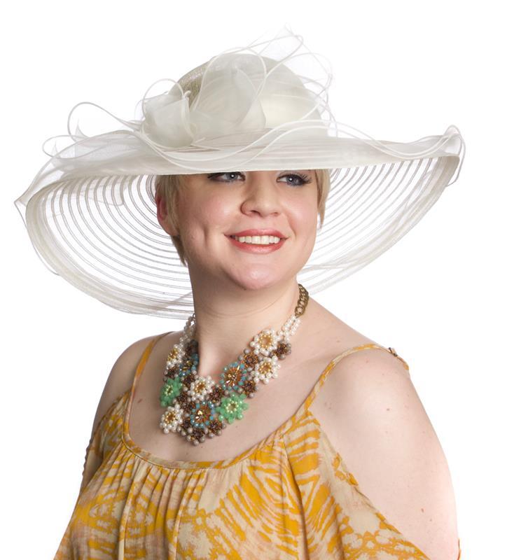 The Virginia Horsehair Hat,LD98-ASST WHITE