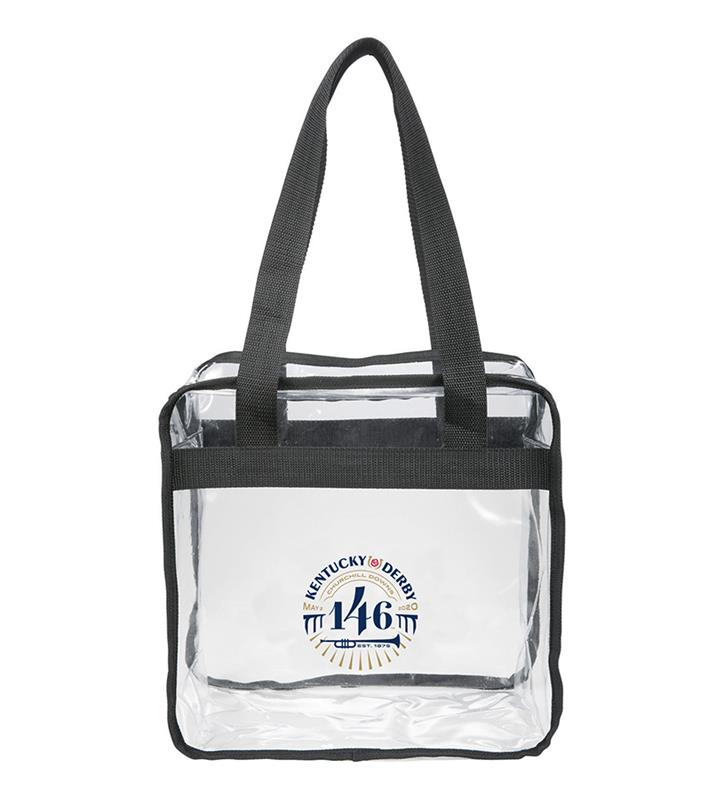 146 Kentucky Derby Event Logo Clear Zippered Tote,KYA0060-24D