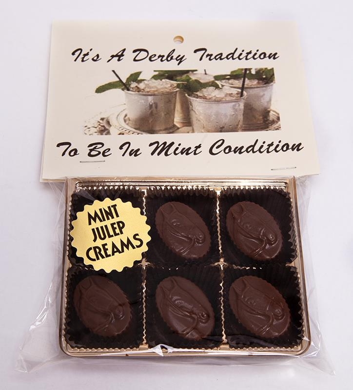 6pc Mint Julep Creams Mint Horse Head Chocolates