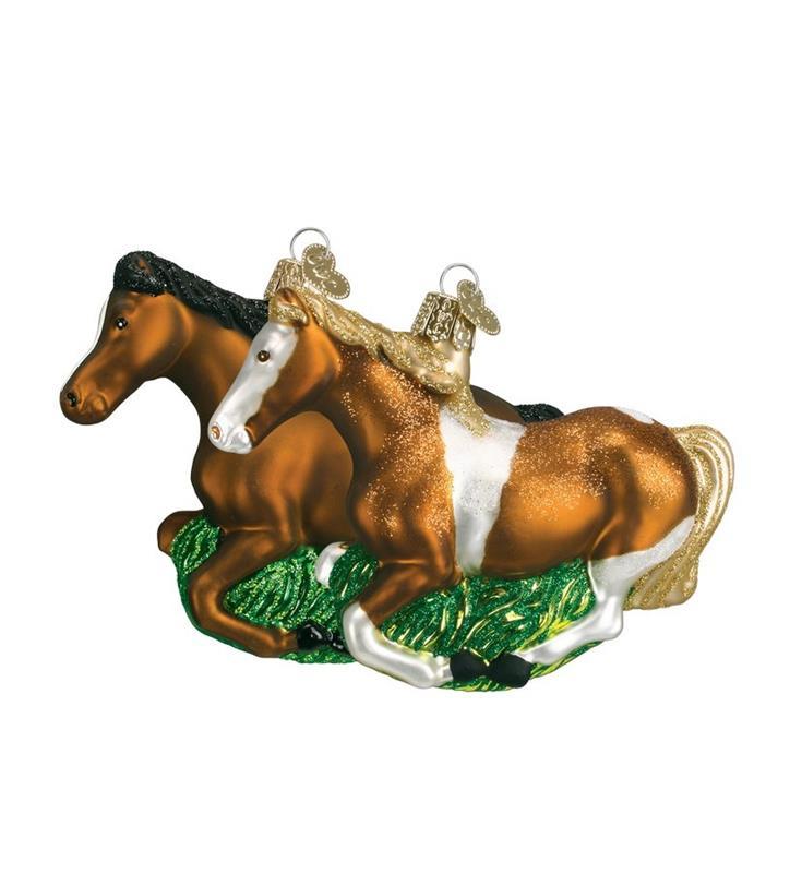 Mustang Vintage Ornament,12257 BROWN